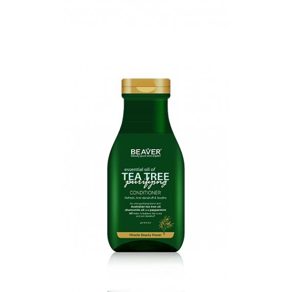Beaver, Oczyszczjąca odżywka przeciwłupieżowa TEA TREE, 350 ml