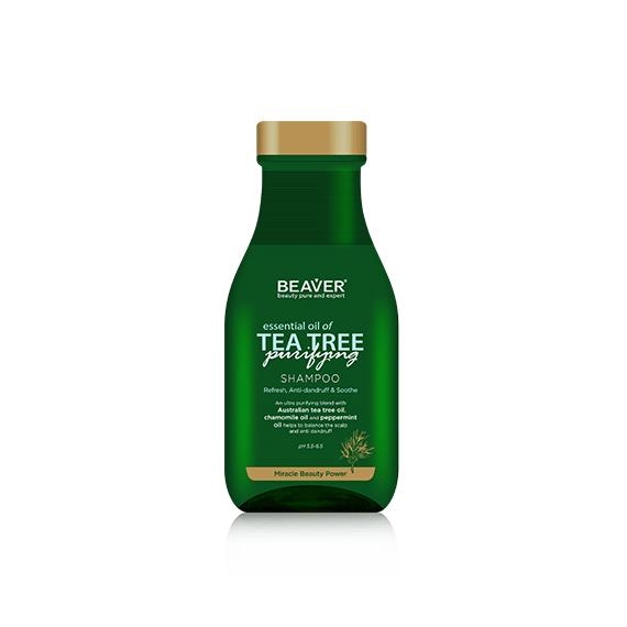 Beaver, Oczyszczjący szampon przeciwłupieżowy TEA TREE, 350 ml