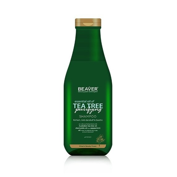 Beaver, Oczyszczjący szampon przeciwłupieżowy TEA TREE, 730 ml