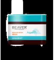 Beaver, Argan Oil maska do włosów nawilżająco-naprawcza, 250 ml