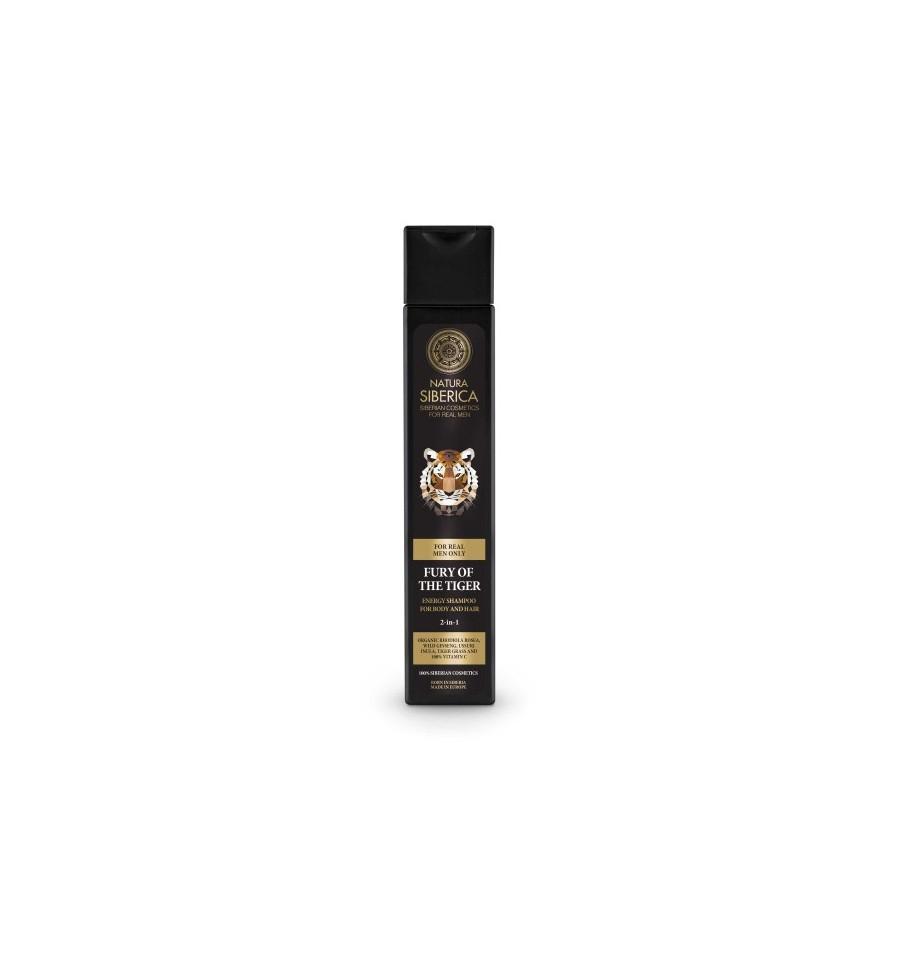 Natura Siberica Men, Energetyzujący szampon do mycia włosów i ciała 2w1, 250 ml