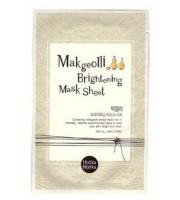 Holika Holika, Makgeolli Brightening Mask, Maseczka rozświetlająca na bawełnianej płachcie, 1 sztuka