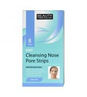 Beauty Formulas, Głęboko oczyszczające paski na nos, 6 sztuk