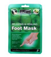 Beauty Formulas, Maska do stóp relaksująco-odżywcza, Skarpetki, 1 para