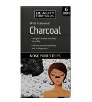 Beauty Formulas, Oczyszczające płatki na nos z węglem aktywnym, 6 sztuk