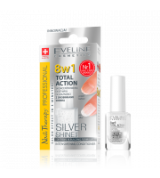 Eveline, Odżywka do paznokci 8w1, Silver Shine, 12 ml