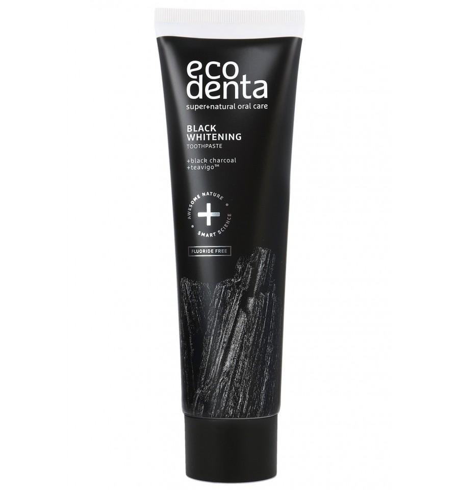 Ecodenta, Czarna pasta do zębów wybielająca Z WĘGLEM DRZEWNYM, 10 ml