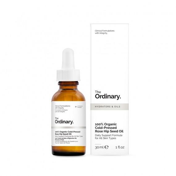 The Ordinary, 100% Organic Cold-Pressed, Rose Hip Seed Oil, Zimnotłoczony organiczny olej z dzikiej róży, 30ml