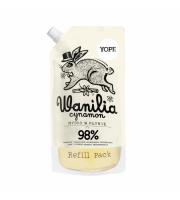 Yope, Mydło w płynie, WANILIA I CYNAMON, REFILL, 500 ml