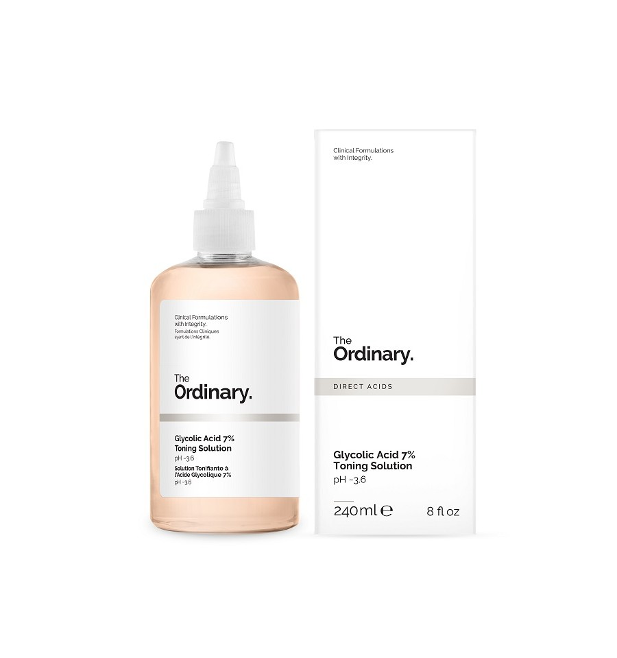 The Ordinary, Glycolic Acid 7% Toning Solution, Tonik Peelingujący z 7% Kwasem Glikolowym, 240 ml