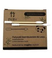 ZUZii, Patyczki bambusowe do uszu z różnymi końcówkami, 100 sztuk