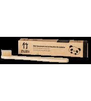 ZUZii, Bambusowa szczoteczka do zębów beżowa - dla dorosłych, 1 sztuka