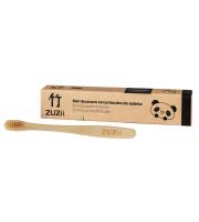 ZUZii, Bambusowa szczoteczka do zębów beżowa - dla dzieci, 1 sztuka