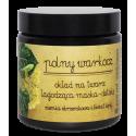 Polny Warkocz, Okład na twarz, Ziemia okrzemkowa i kwiat lipy, Łagodząca maska-detoks, 100 ml