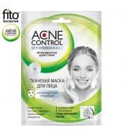 Fitokosmetik, Acne Control, Maska oczyszczająca w płachcie antyoksydacyjna, 25 ml