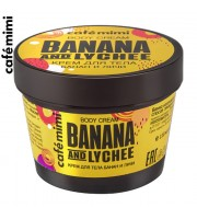 Cafe Mimi, Krem do ciała Banan i Liczi, 110 ml