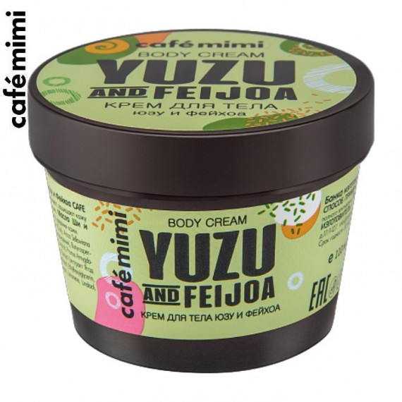 Cafe Mimi, Krem do ciała Yuzu i Feijoa, 110 ml