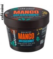 Le Cafe Mimi, Krem-masło do ciała, Mango i Kokos, 110 ml