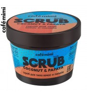 Le Cafe Mimi, Scrub do ciała, Kokos i Papaja, 120 ml