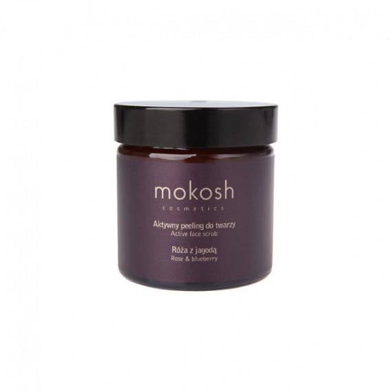 Mokosh, Aktywny peeling Róża z jagodą, 60 ml