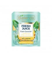 Bielenda, Fresh Juice Rozświetlający krem booster z bioaktywną wodą cytrusową Ananas, 50 ml