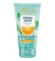 Bielenda, Fresh Juice Nawilżający peeling cukrowy do twarzy Pomarańcza, 150 gr