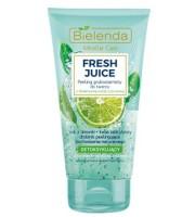 Bielenda, Fresh Juice Detoksykujący peeling gruboziarnisty do twarzy Limonka, 150gr