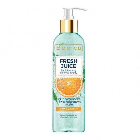 Bielenda, Fresh Juice Nawilżający żel micelarny do mycia twarzy, POMARAŃCZA, 190 gr