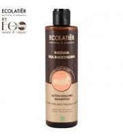 Ecolab, Ecolatier, Szampon do włosów Ultra Objętość do włosów cienkich, Rokitnik, 250 ml