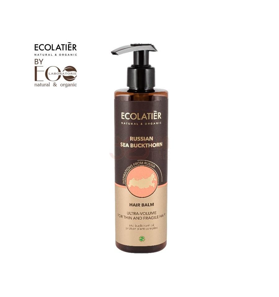 Ecolab, Ecolatier, Balsam do włosów Ultra Objętość do włosów cienkich, Rokitnik, 250 ml