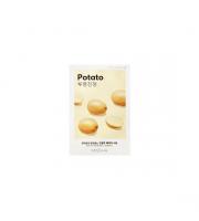 Missha, Airy Fit Sheet Mask Potato, Łagodząco-rozjaśniająca maseczka w płachcie, 19 ml