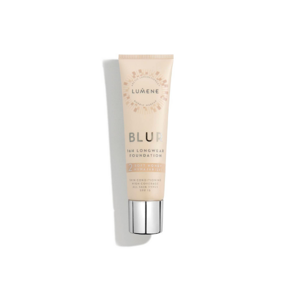 Lumene, BLUR FOUNDATION, Podkład kryjący 2 SOFT HONEY, 30 ml