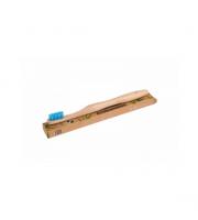 Ecobamboo, Szczoteczka bambusowa Medium, niebieska