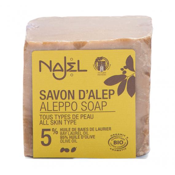 Najel, Mydło Aleppo z olejem laurowym 5%, 200 g