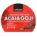 Le Cafe Mimi, Antyoksydacyjna maska w płachcie Acai & Goji, 22g