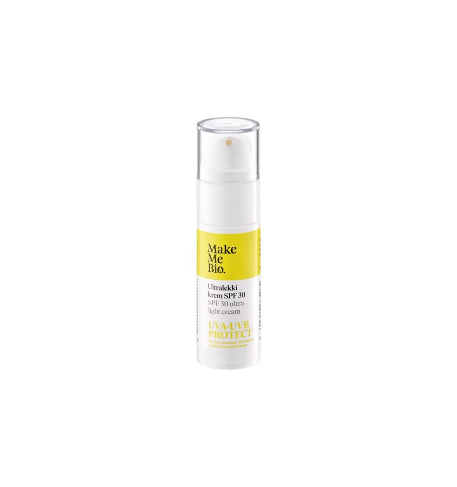 Make Me Bio, Ultralekki krem SPF 30, 30ml