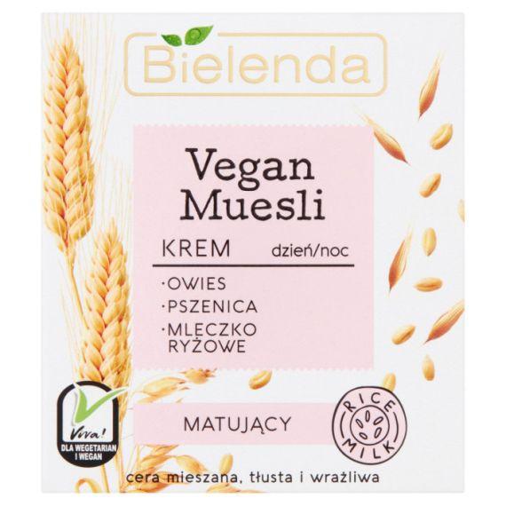 Bielenda, Vegan Muesli Krem matujący dzień/noc, 50ml
