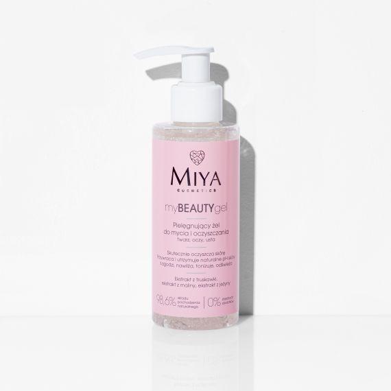 Miya, MyBeautyGel Pielęgnujący żel do mycia i oczyszczania twarzy, 140ml
