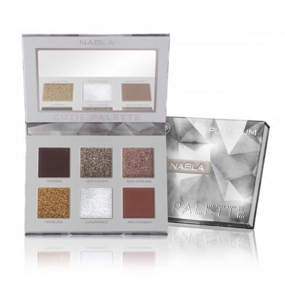 Nabla, Cutie Collection, Paleta cieni Cutie Palette, PLATINUM, 7.7 g