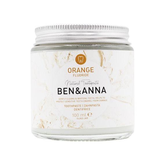 Ben&Anna, Naturalna pasta do zębów, Orange Fluoride Natural Toothpaste, 100ml