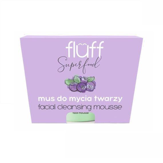 Fluff, Mus do oczyszczania twarzy - leśne jagody, 50g