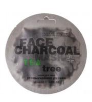 Cafe Mimi, Maseczka do twarzy, Bambusowy węgiel i drzewo herbaciane, 10 ml