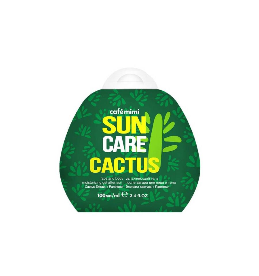 Cafe Mimi, Sun Care, Cactus - Nawilżający żel po opalaniu do twarzy ci ciała, 100 ml