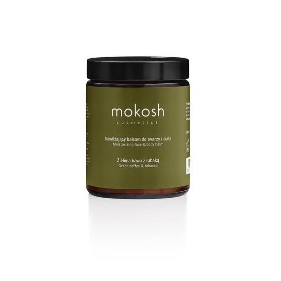 Mokosh, Nawilżający balsam do twarzy i ciała - Zielona kawa z tabaką, 180ml