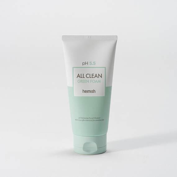 Heimish, All Clean Green Foam, Pianka myjąca w żelu do twarzy, 150 g