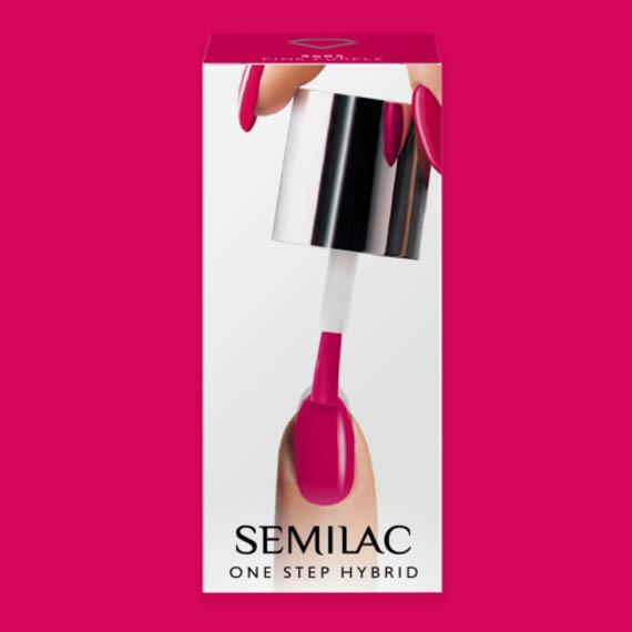 Semilac, S685 One Step Hybrid, Pink Purple, 5 ml