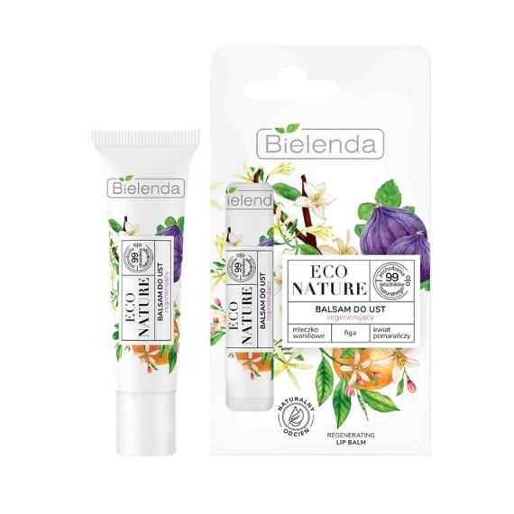 Bielenda ECO NATURE, Mleczko waniliowe + Figa + Kwiat pomarańczy - balsam do ust regenerujący, 10 g