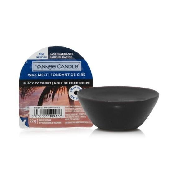 Yankee Candle, BLACK COCONUT, wosk nowe opakowanie, 22 g