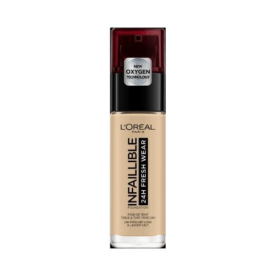 L'Oréal, Podkład Infaillible 24H Fresh Wear, 100 LINEN, 30 ml,