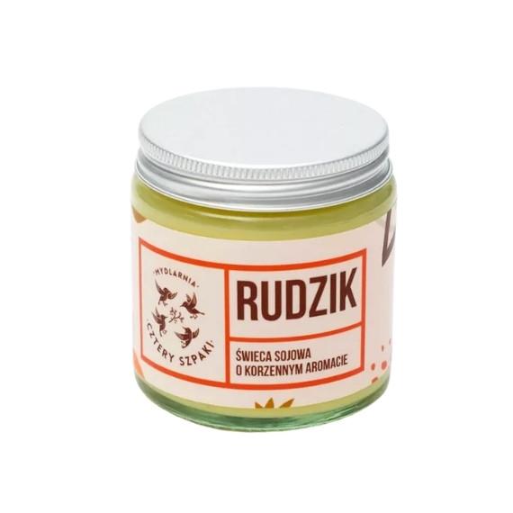 Mydlarnia Cztery Szpaki, Rudzik - Naturalna świeca sojowa, korzenna, 100 g